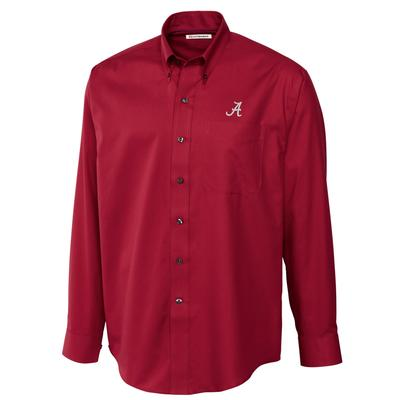 Alabama Cutter and Buck Big and Tall Fine Twill Button Down ***Custom Order***
