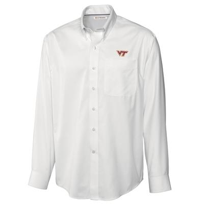 Virginia Tech Cutter and Buck Big and Tall Fine Twill Button Down ***Custom Order***