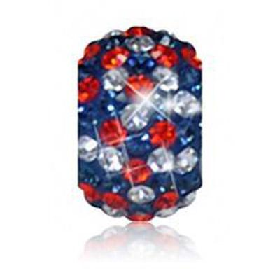 Sparkle Life Navy and Orange Speckled Crystal Bead