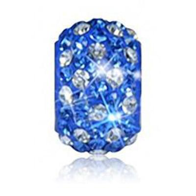Sparkle Life Sapphire and White Polka Dot Crystal Bead