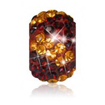 Sparkle Life Garnet and Gold Zebra Crystal Bead