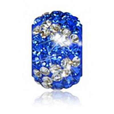 Sparkle Life Sapphire And White Zebra Crystal Bead