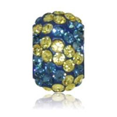 Sparkle Life Navy and Yellow Zebra Crystal Bead