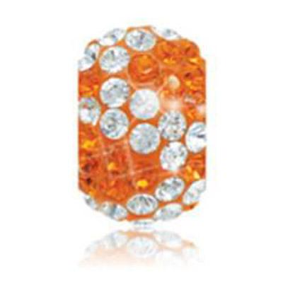 Sparkle Life Tangerine and White Zebra Crystal Bead