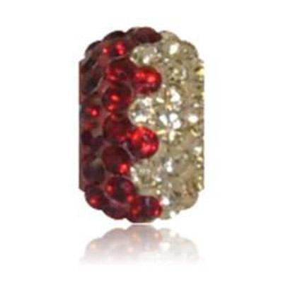 Sparkle Life Siam Red and Gold Zig Zag Crystal Bead