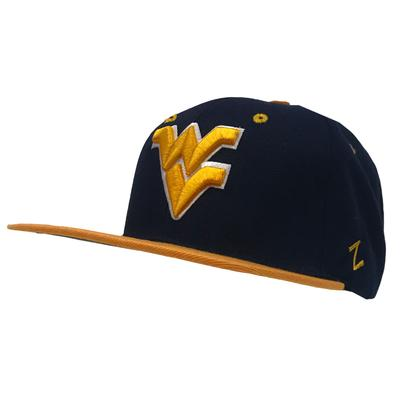 West Virginia Z11 Flat Brim Snap Back Hat