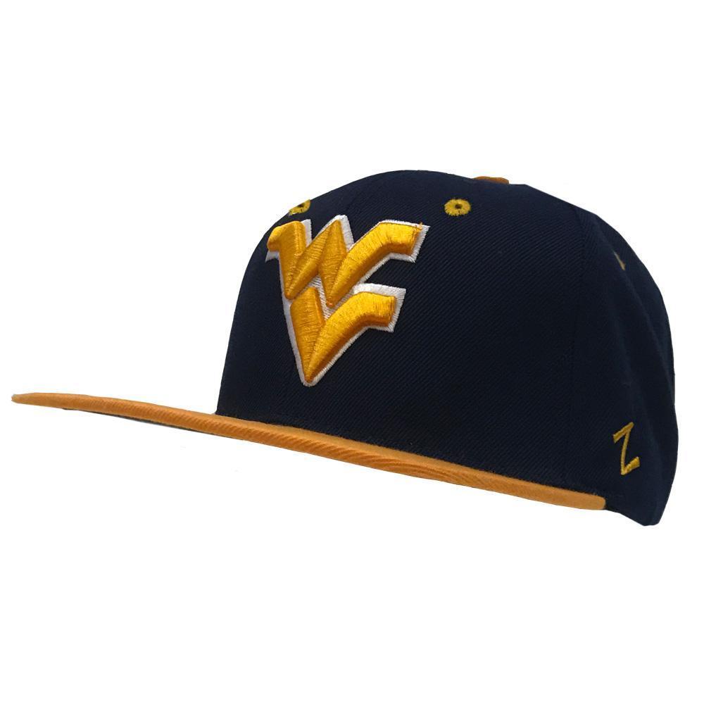 West Virginia Z11 Flat Brim Snap Back Hat