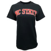 Nc State Women's Metallic Outline Arch T- Shirt