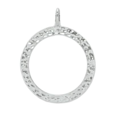 Sparkle Life Sterling Silver Circle Pendant