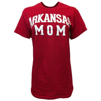 Arkansas Women's Straight Mom Tee