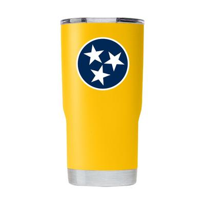 Gametime Sidekick Yellow 20oz Tristar Tumbler With Lid