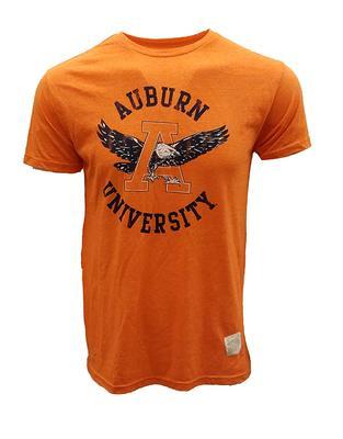 Auburn Retro Brand Vintage Logo Mock Twist T-Shirt