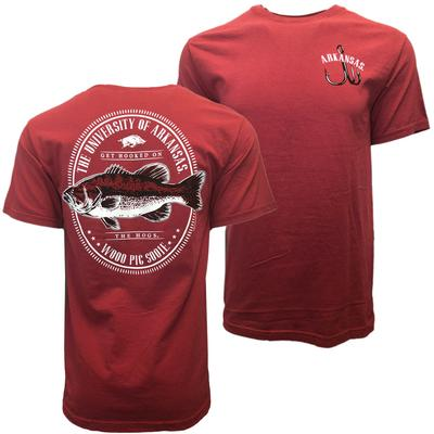 Arkansas Comfort Colors Get Hooked On The Razorbacks Tee