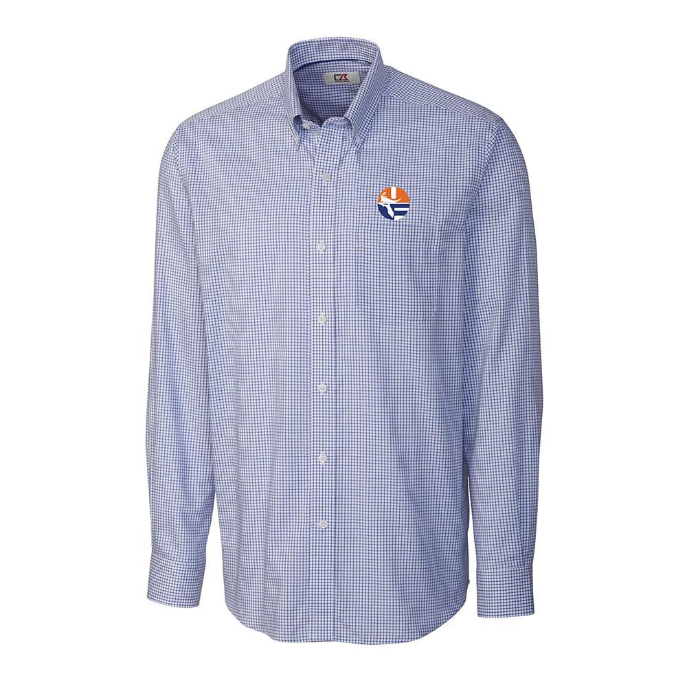 Florida Cutter And Buck Tattersall Woven Vault Logo Dress Shirt