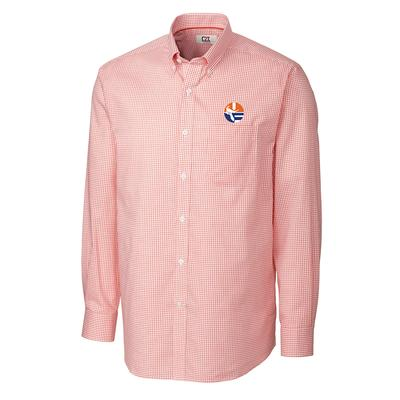 Florida Cutter And Buck Tattersall Woven Vault Logo Dress Shirt