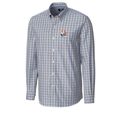 Florida Cutter And Buck Gilman Plaid Vault Logo Woven Shirt