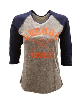 Auburn Retro Brand Margie Raglan Baseball Tee