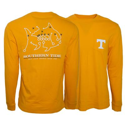 Tennessee Southern Tide Long Sleeve Skipjack Play Tee