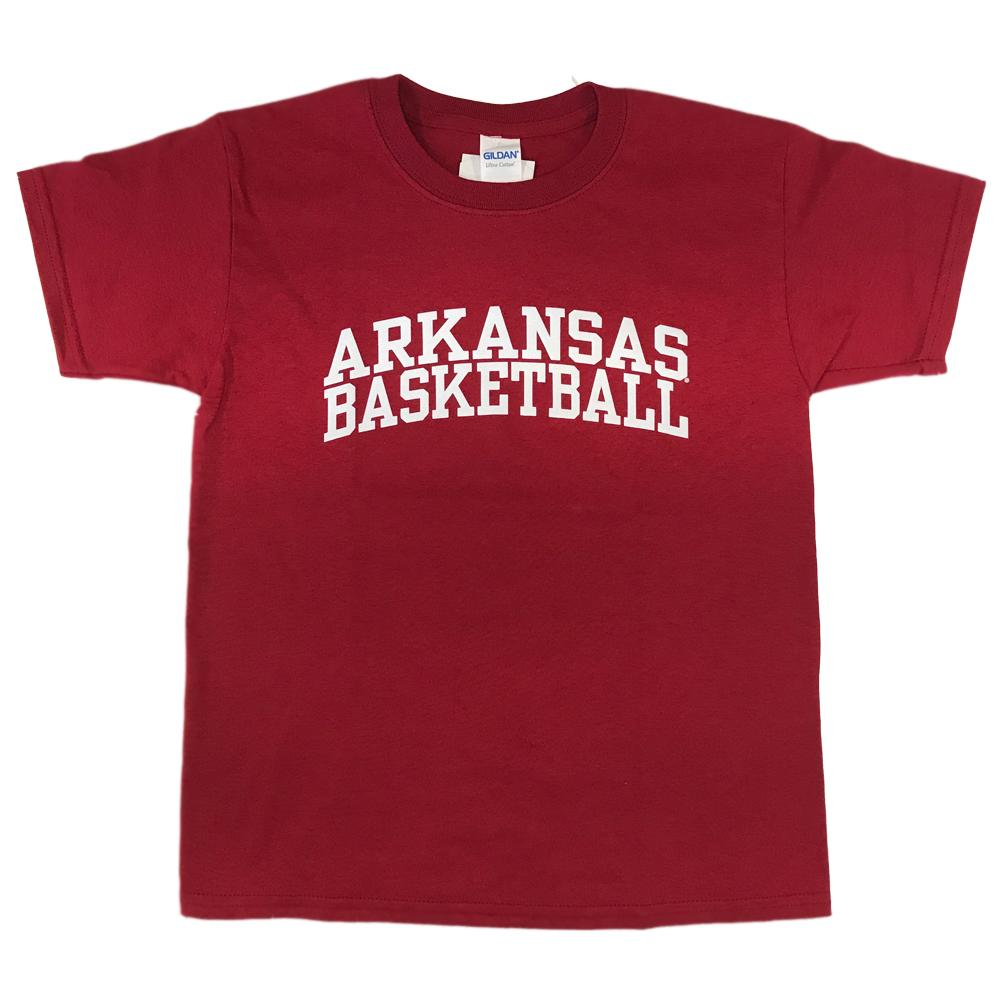 Arkansas Youth Basic Arch Basketball Tee