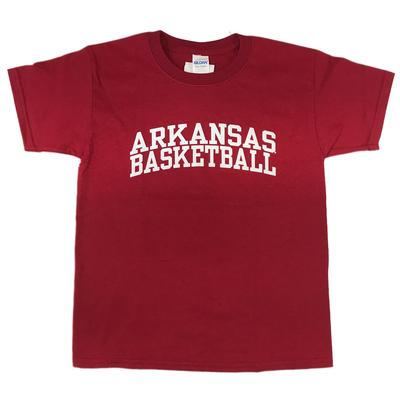 Arkansas Youth Basic Arch Basketball Tee CARDINAL