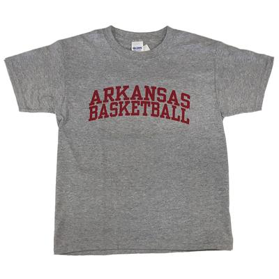 Arkansas Youth Basic Arch Basketball Tee SPORT_GREY