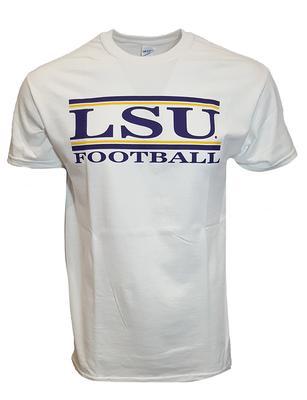 LSU Bar Football Tee WHITE