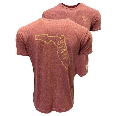 Florida State Retro Brand Streaky Outline Tee