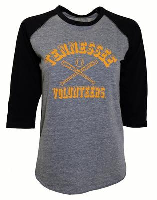 Tennessee Retro Brand Women's Margie Crossbats Long Sleeve Tee
