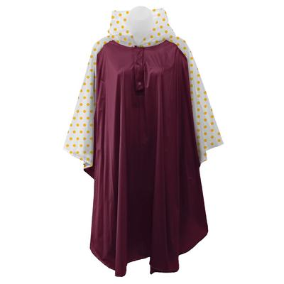 Garnet and Gold Polka Dot Rain Poncho