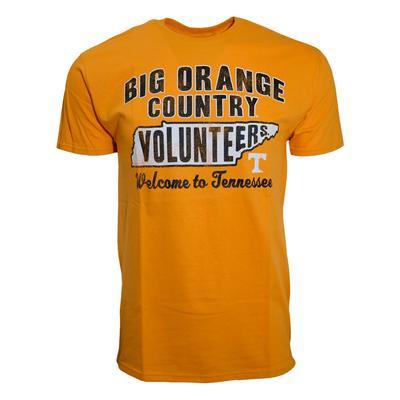 Tennessee Big Orange Country Volunteer State Tee