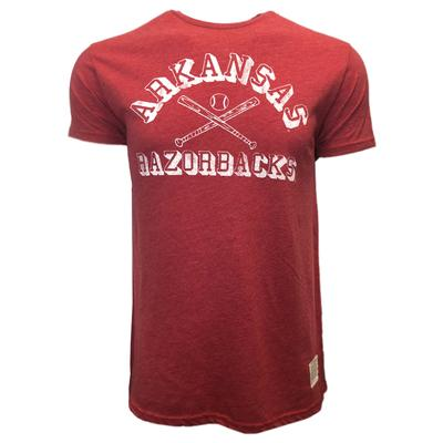Arkansas Retro Brand Heathered Baseball Tee