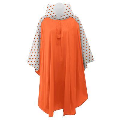 Orange and White Polka Dot Rain Poncho