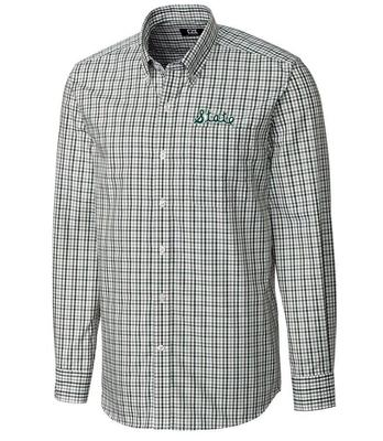 Michigan State Cutter And Buck Vault Gilman Plaid Woven