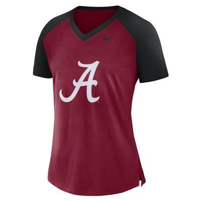 Alabama Nike Women's V-Neck Top