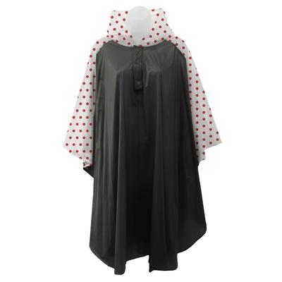 Black and Red Polka Dot Rain Poncho