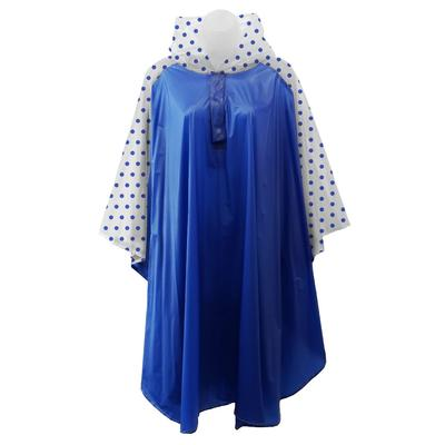 Royal And White Polka Dot Rain Poncho