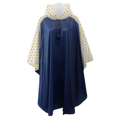 Navy And Yellow Polka Dot Rain Poncho