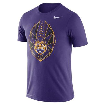 LSU Nike Dri-FIT Cotton Football Icon Tee
