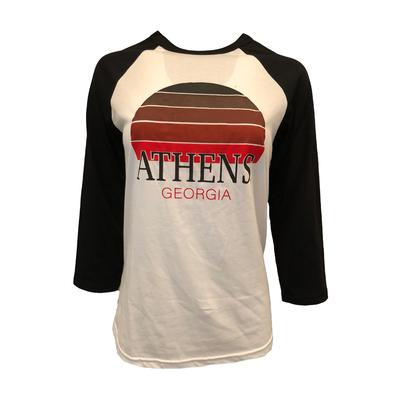 Athens Women's Sunset City Long Sleeve Baseball Tee