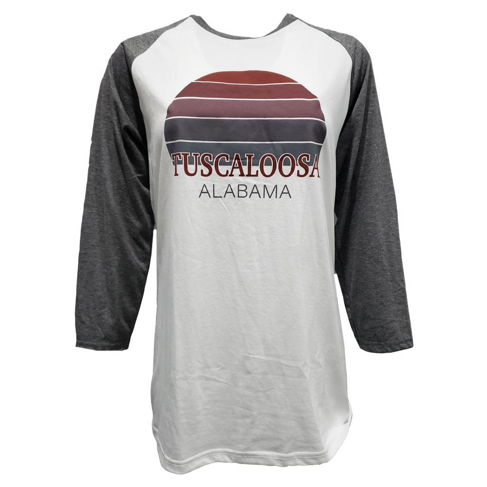 Tuscaloosa Women's Sunset City Long Sleeve Baseball Tee