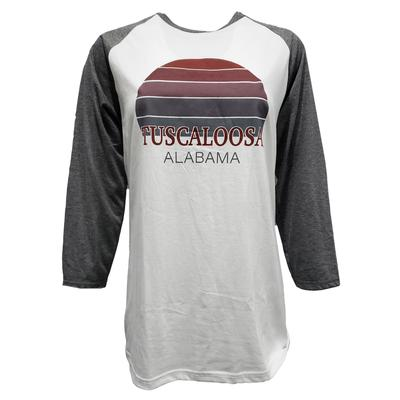 Tuscaloosa Women's Sunset City Long Sleeve Baseball Tee