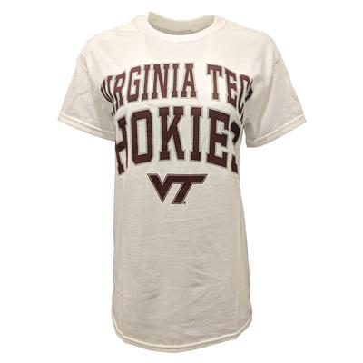Virginia Tech Basic Double Arch Logo T-Shirt WHITE