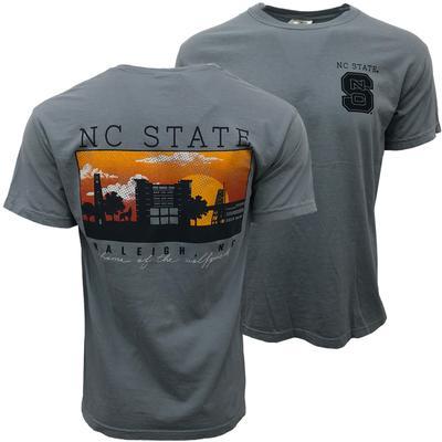 NC State Comfort Colors Raleigh Skyline Tee