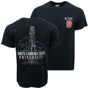 Nc State Comfort Colors Bell Tower Tee