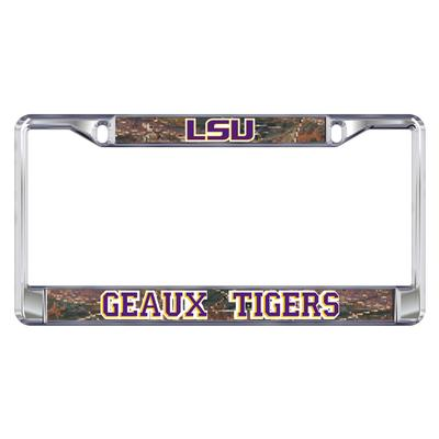 LSU License Plate Frame LSU/Geaux Tigers
