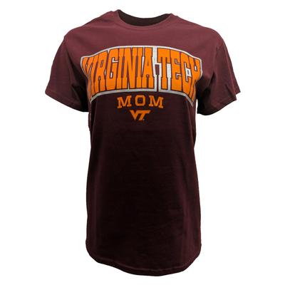 Virginia Tech Mom Arch T-Shirt MAROON