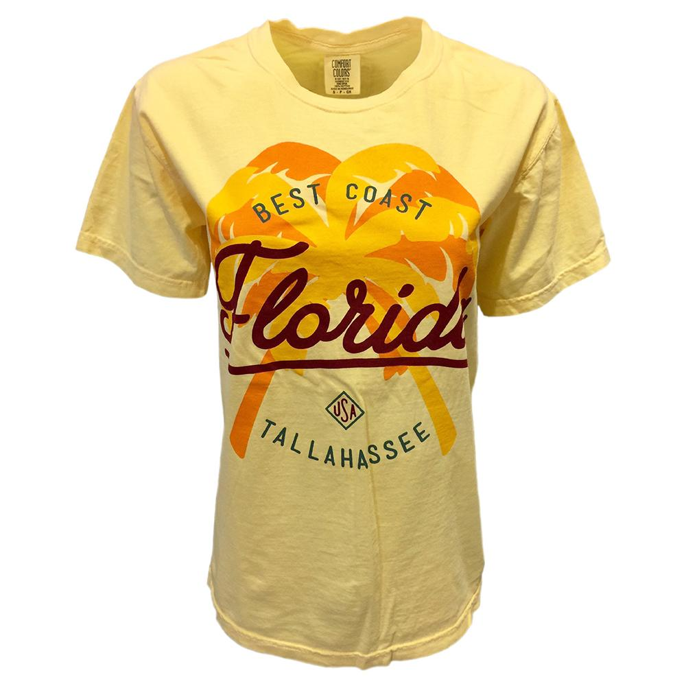 Tallahassee Double Palm Tree Comfort Colors Tee