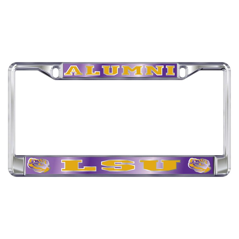 Lsu License Plate Frame Alumni/Lsu