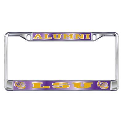 LSU License Plate Frame Alumni/LSU