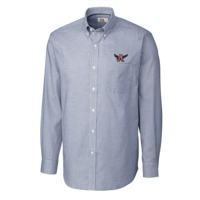 Auburn Cutter And Buck Vault Logo Tattersall Woven Shirt